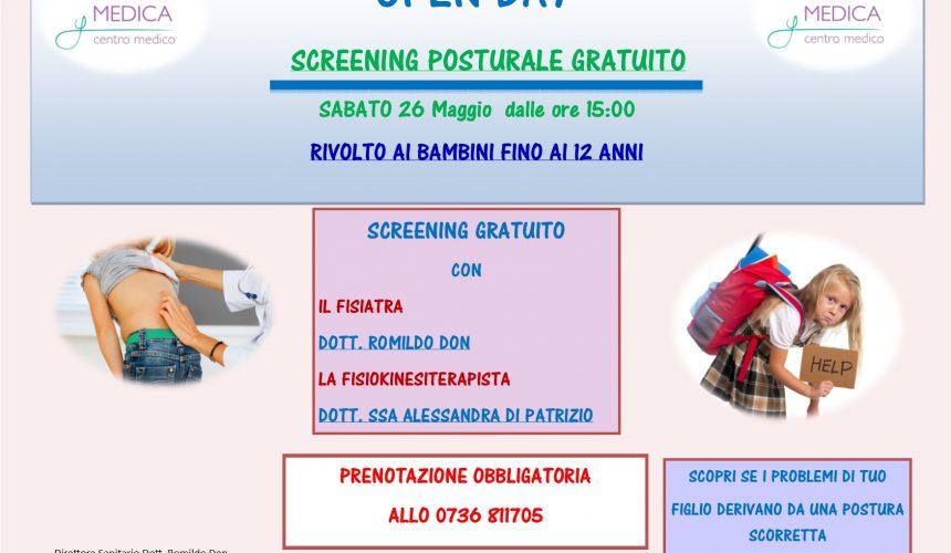 Screening posturale gratuito.